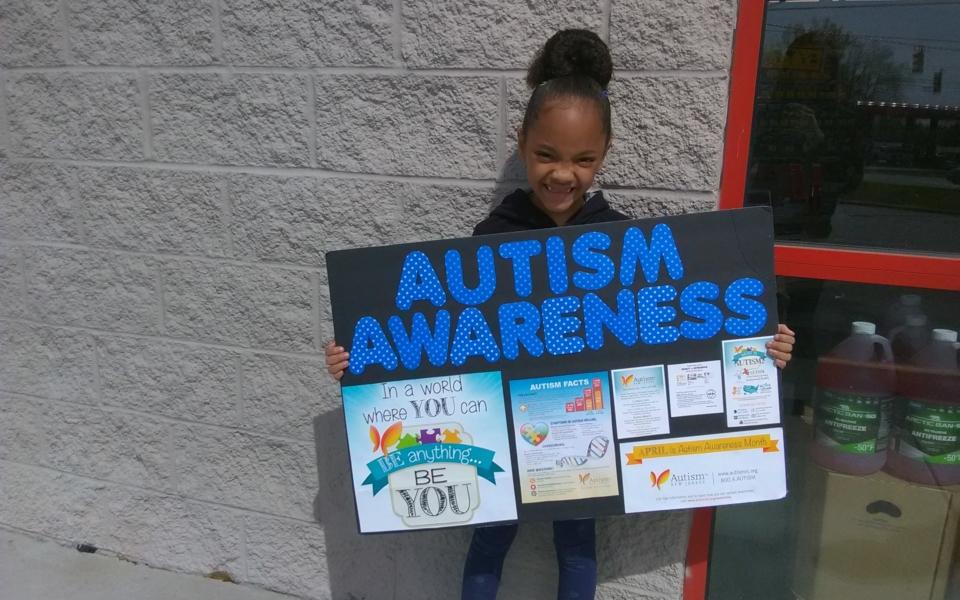 Neveah, Age 6, Autism Awareness Poster