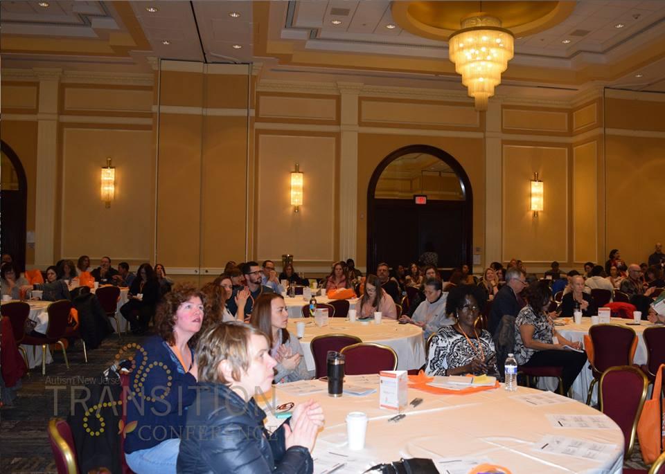 Attendees listening to keynote speech